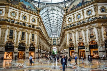 zona arancione - la galleria di Milano adiacente il Duomo
