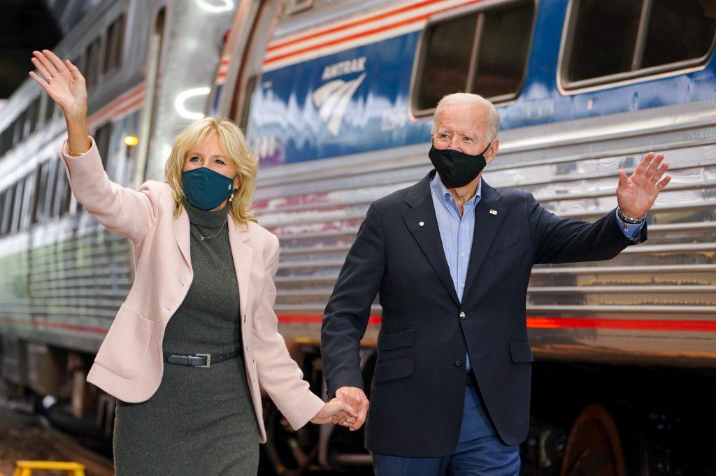 Jill e Joe Biden durante la campagna elettorale