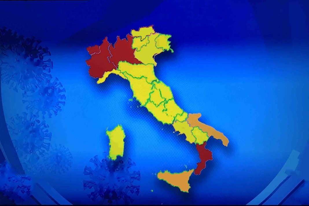italia covid regioni divise