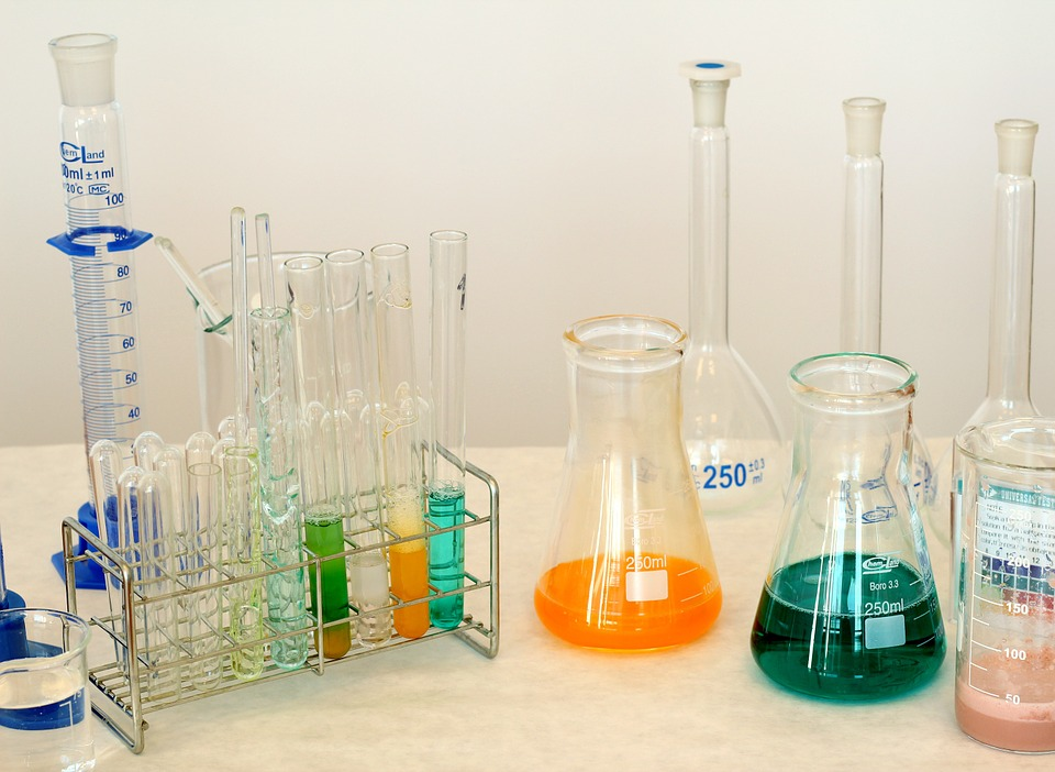 laboratorio chimico per il vaccino