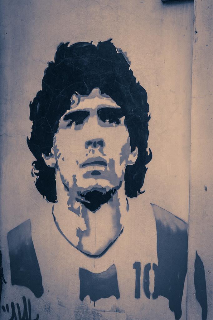 Supercoppa Maradona - ritratto di maradona
