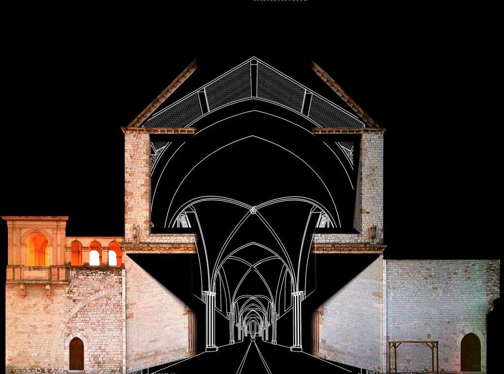 Il video mapping pensato ad Assisi per il Natale