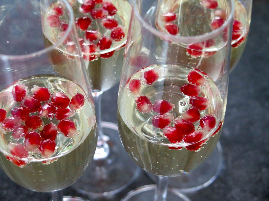 bicchieri con spumante