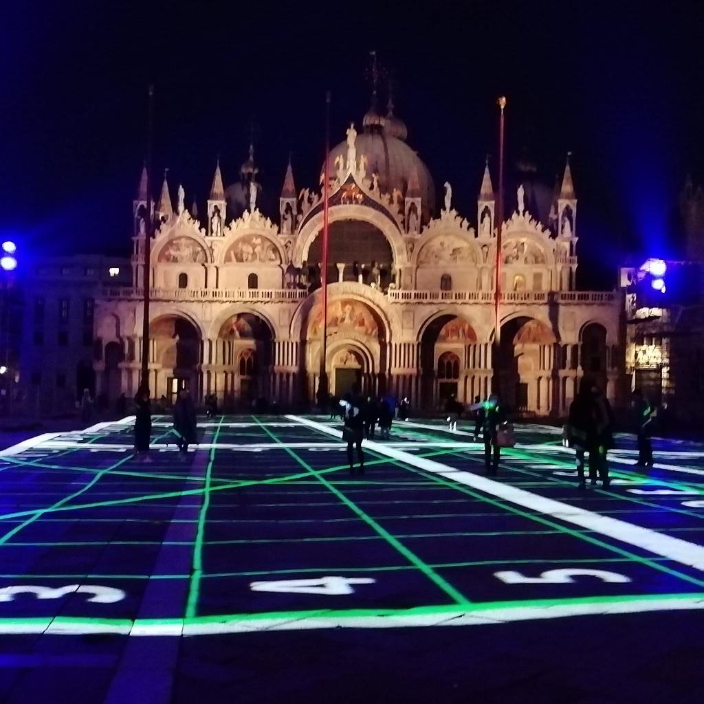 Fasci di luce Venezia del futuro