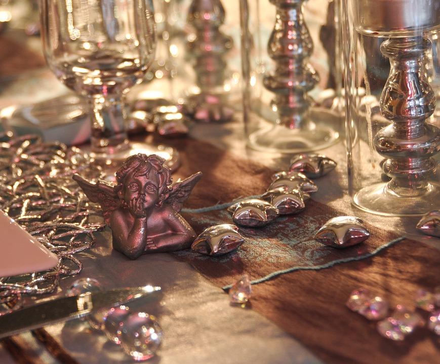 Il pranzo del 25 dicembre - angioletto sulla tavola