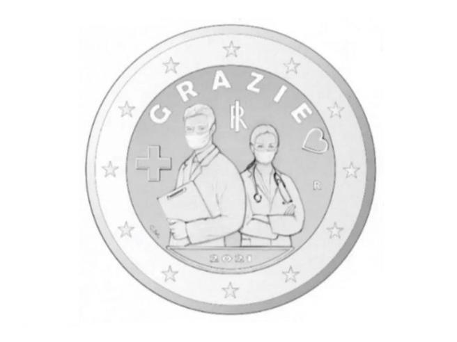 moneta celebrativa personale sanitario coronavirus