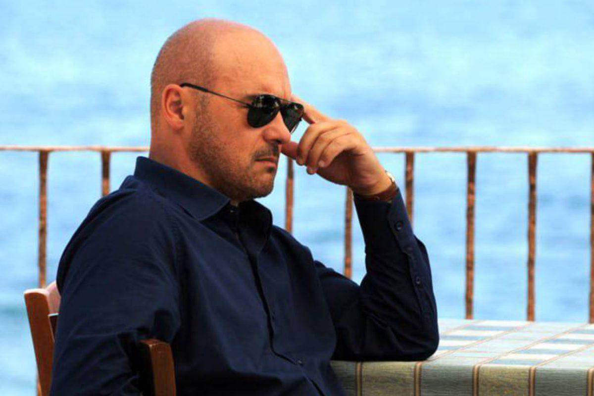 L'attore Zingaretti sul set di Montalbano