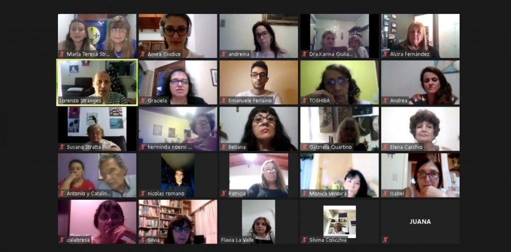 Lingua italiana - immagine di videoconferenza