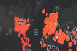 Zone rosso scuro in Italia - Mappa contagi mondo