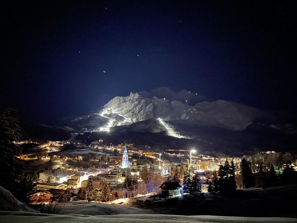 Campionati del Mondo di sci alpino a Cortina - cortina di notte
