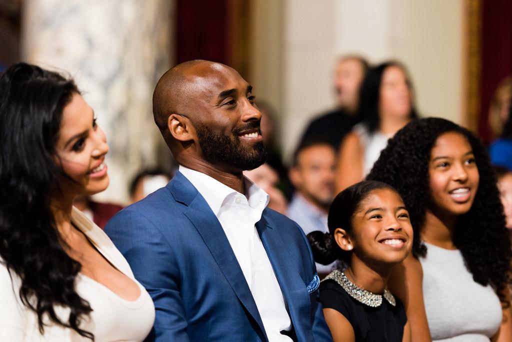 Kobe Bryant con la sua famiglia
