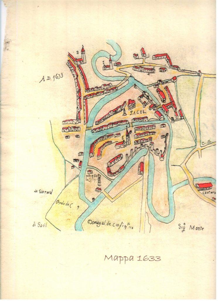 Sacile mappa antica