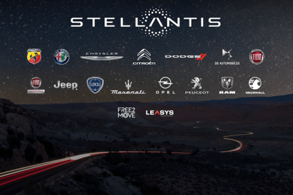 Stellantis - logo del nuovo gruppo con i marchi associati