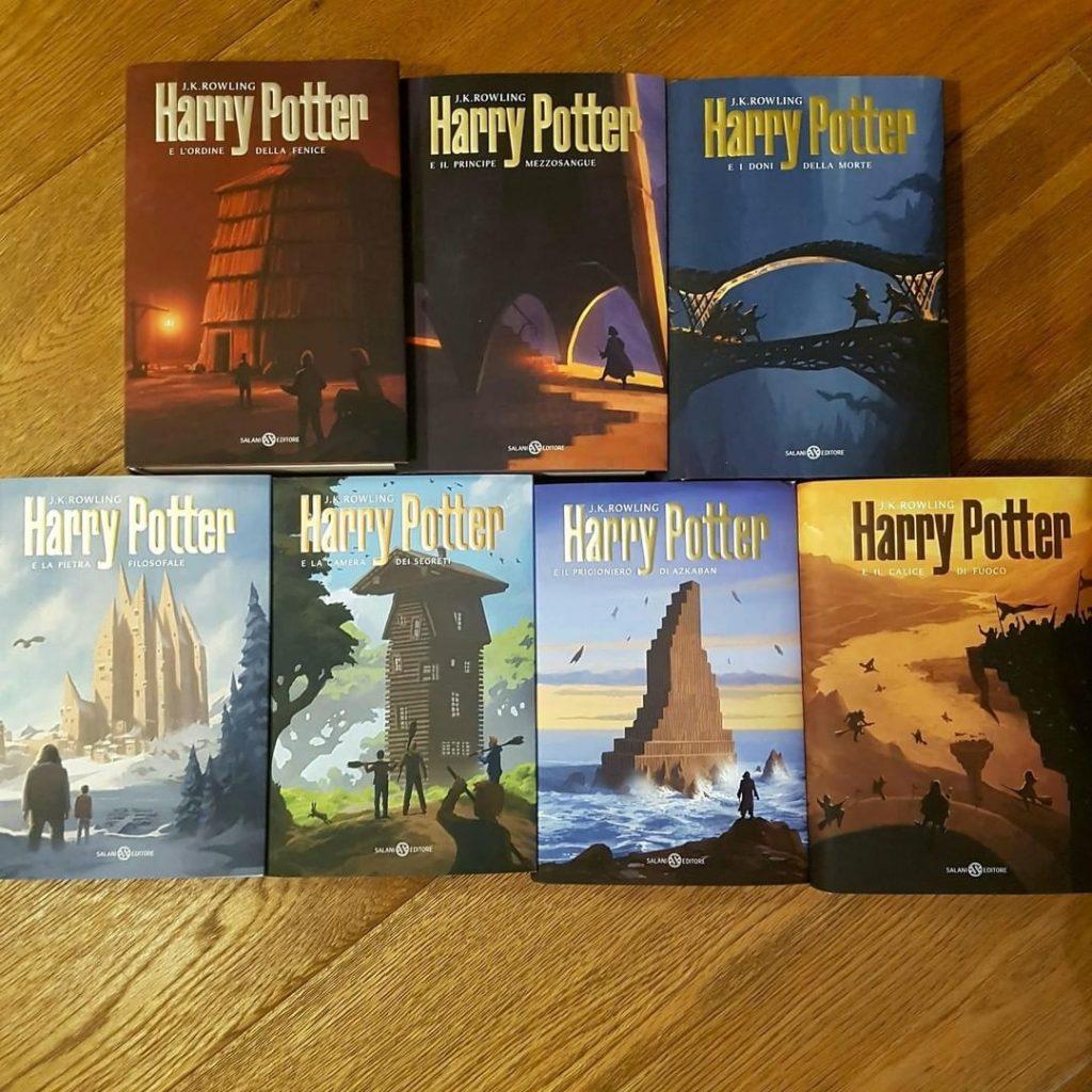 i libri con le nuove copertine di Harry Potter