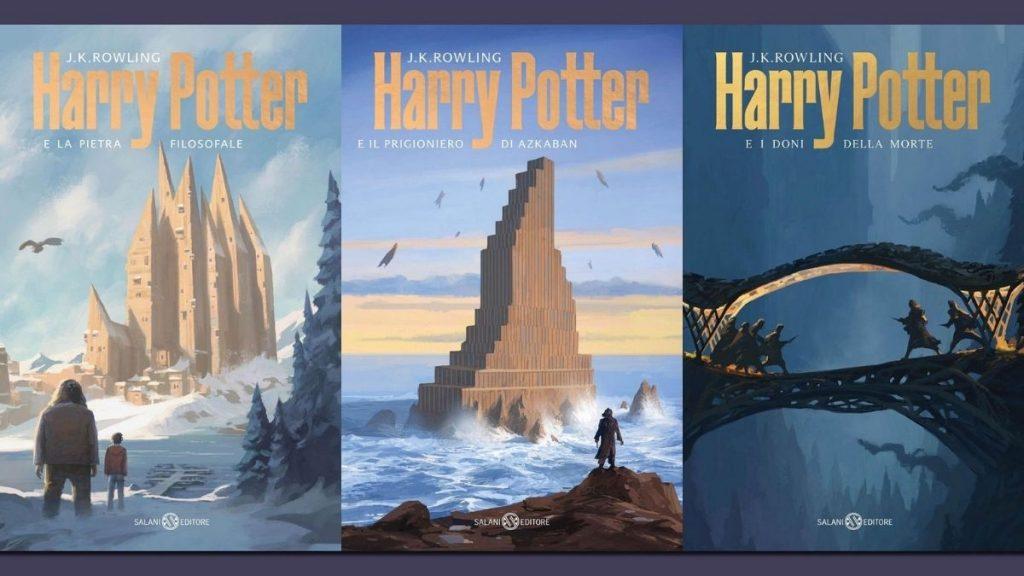 3 copertine di Harry Potter