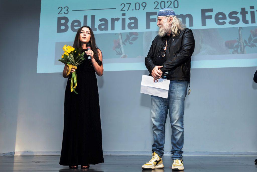 Alessia Bottone durante una premiazione