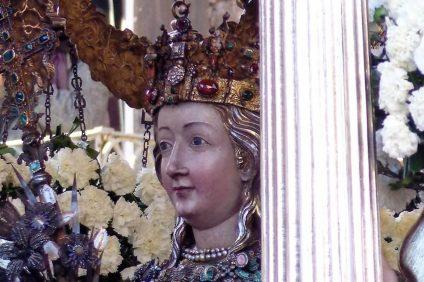 Festa di Sant'Agata 2021 - Dettaglio del fercolo di Sant'Agata a Catania
