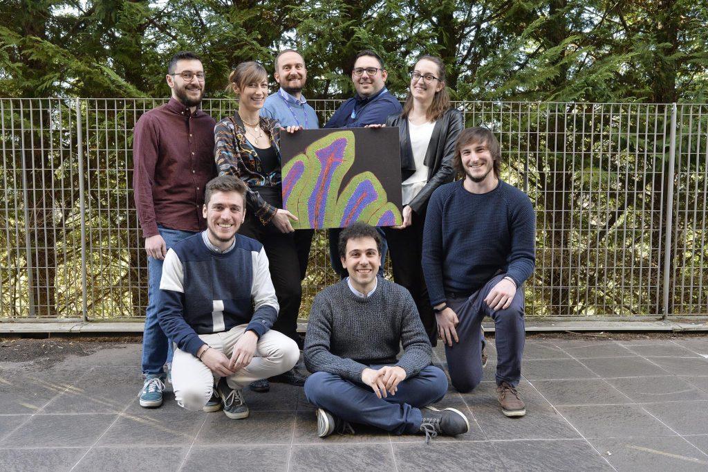 Luca Tiberi con il suo team di ricerca dell'Università di Trento