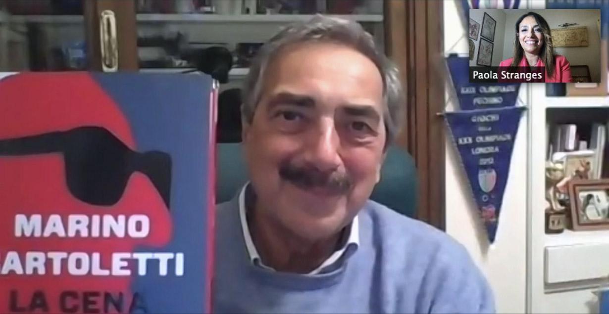 Marino Bartoletti con il suo libro