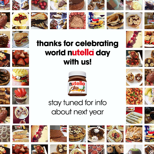 World Nutella Day, collage
