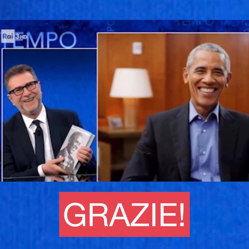 Obama con Fabio Fazio
