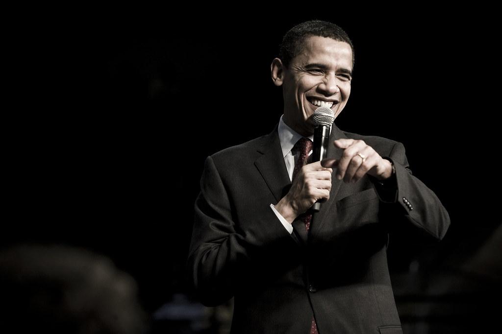 obama sul palco