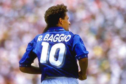 Roby Baggio- numero 10 della nazionale italiana