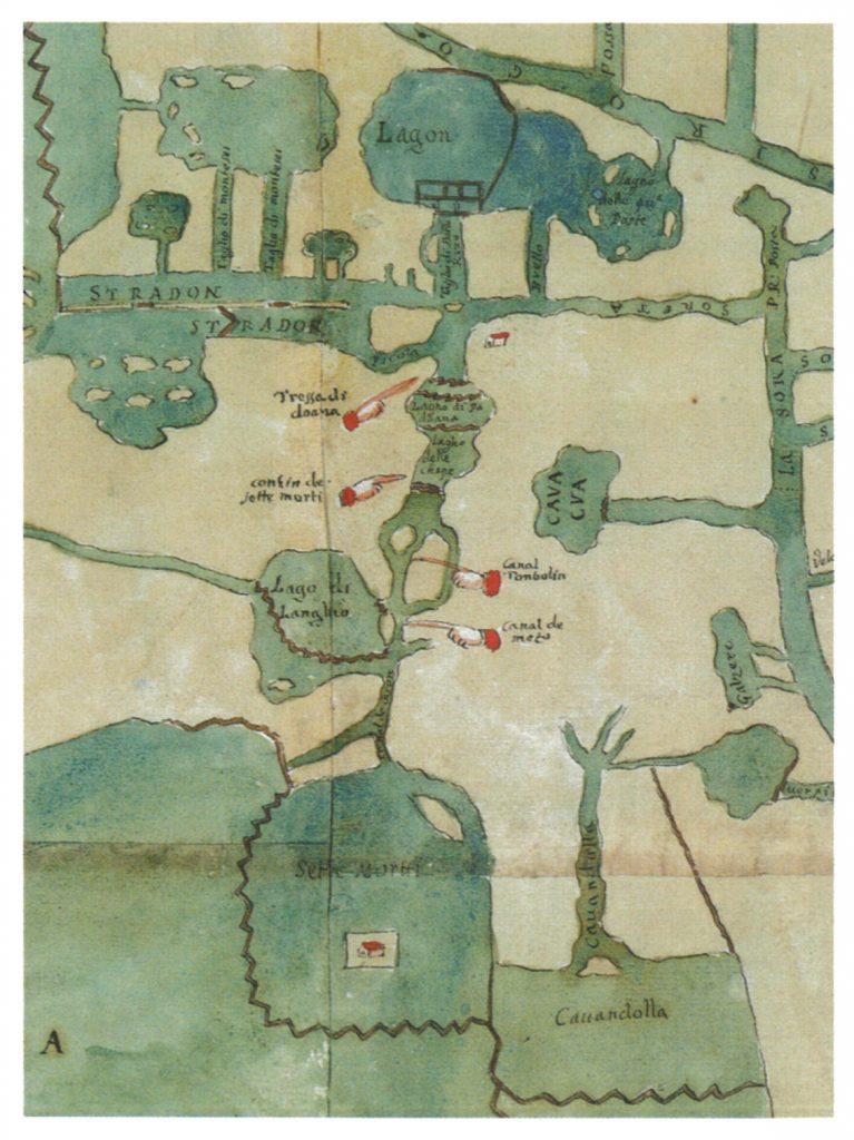 Antica mappa della Valle dei Sette Morti