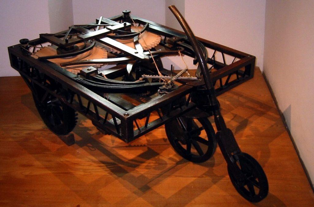 Ricostruzione del Carro semovente al Castello di Clos-Lucé
