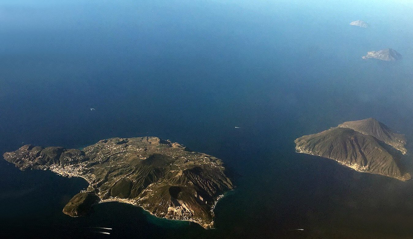 Isole Eolie dall'alto