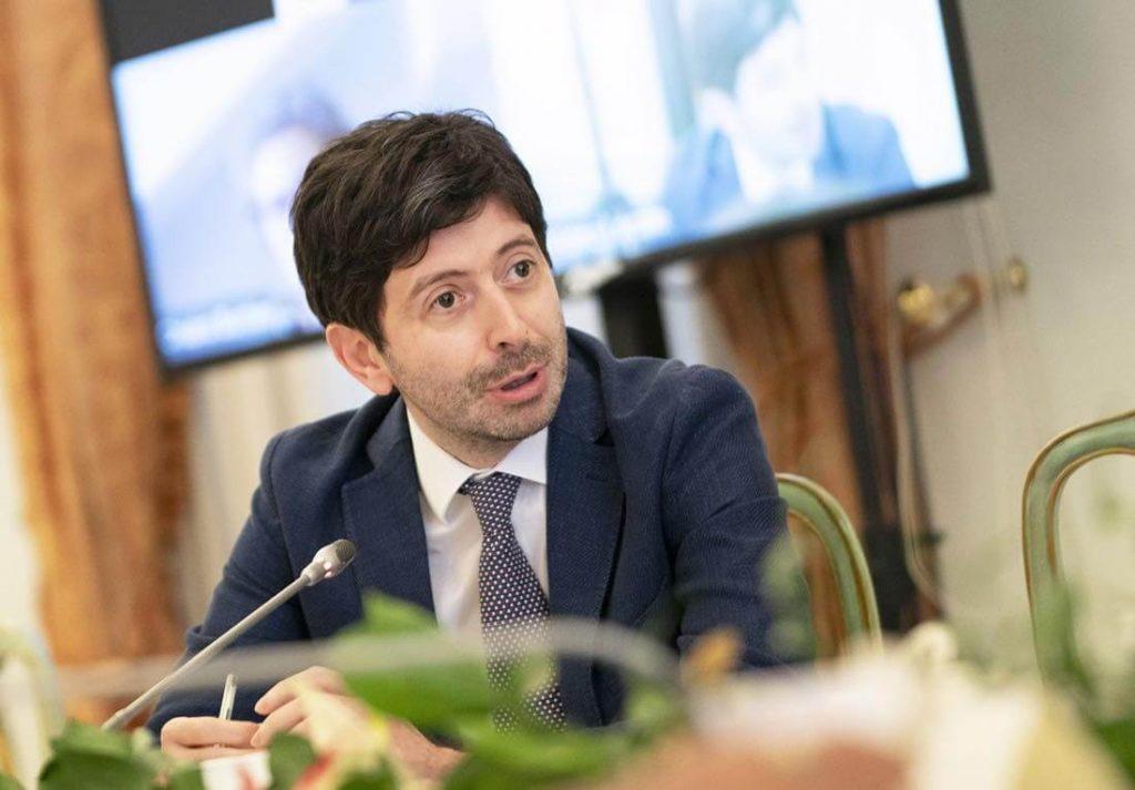 Roberto Speranza in conferenza