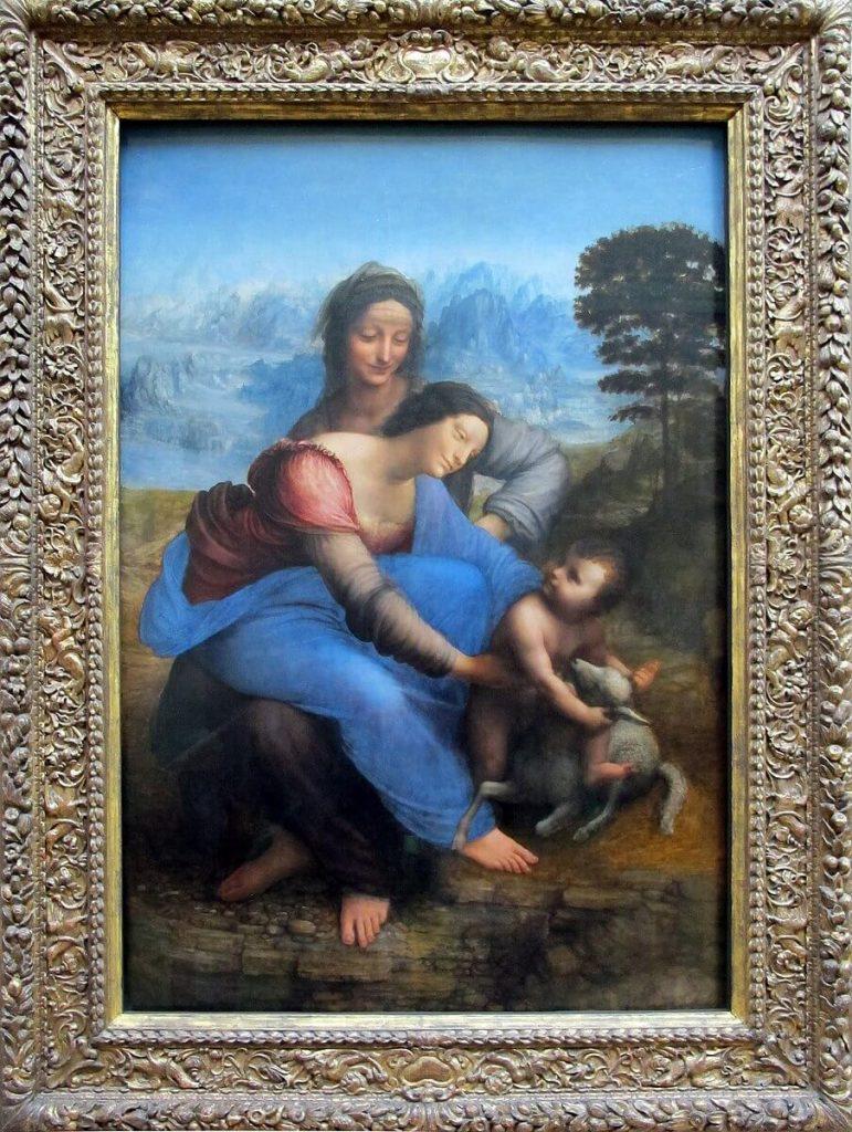 sant'anna la vergine e il bambino con l'agnellino