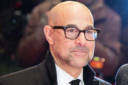 Primo piano di Stanley Tucci al festival del cinema di Berlino nel 2017