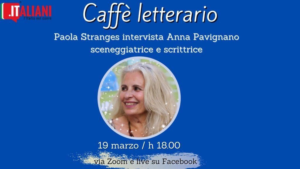 locandina del Caffè letterario con ospite: Anna Pavignano