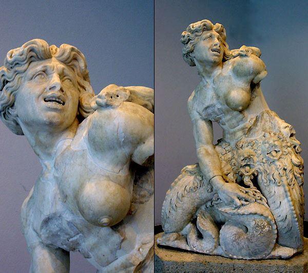 Scilla e Cariddi - statua di cariddi