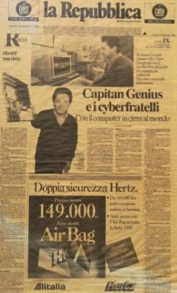 pagina della repubblica con Gerardo Ferlaino