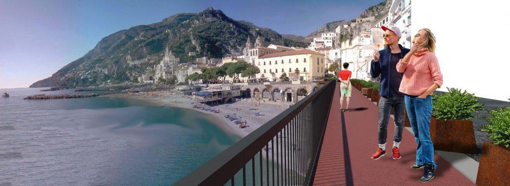 Costiera Amalfitana - Passerella pedonale