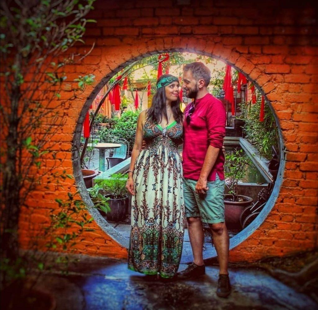 Deborah e Riccardo in India