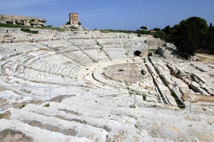 Teatro Greco di Siracusa - panoramica del teatro