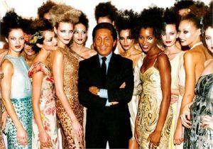 Valentino con le sue modelle