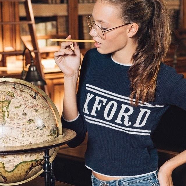 Aurora Talarico in versione studentessa