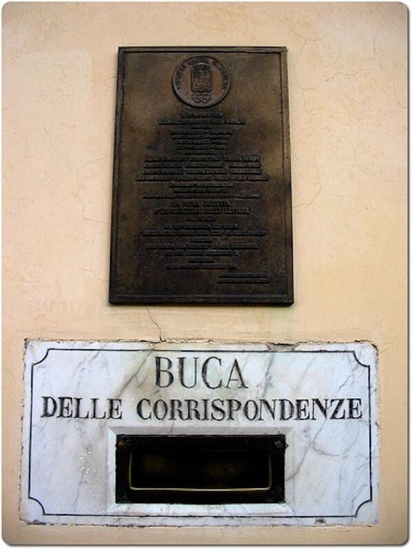 Buca delle lettere Castel Gandolfo 1820