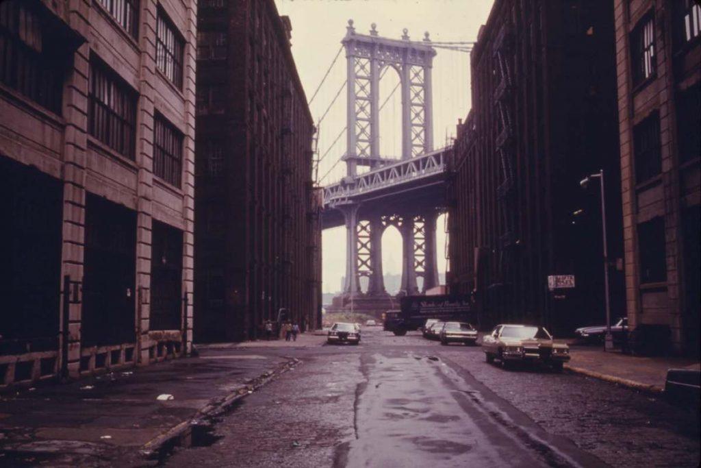 C'era una volta in America - Manhattan Bridge a New York, poster del film di Leone