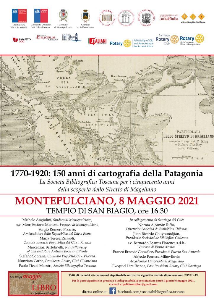cartografia della Patagonia in bianco e nero