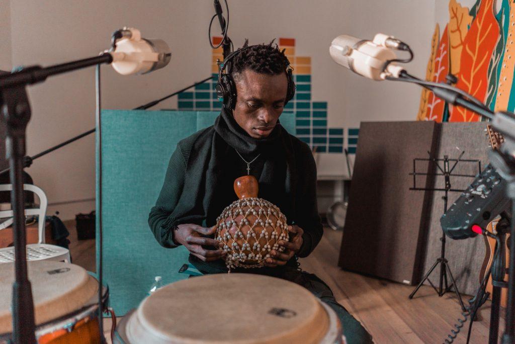 Chris Obehi in studio