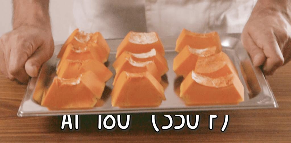 tortelli di zucca - fette di zucca