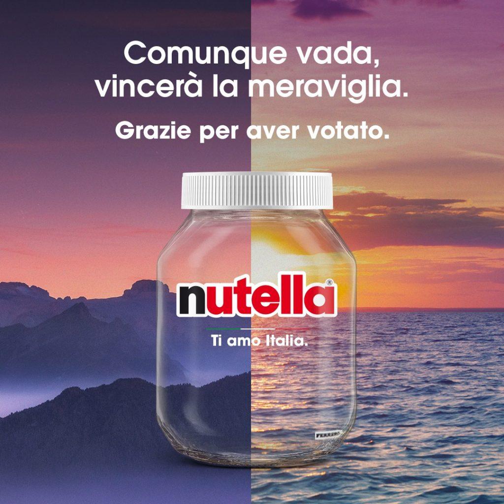 Ti Amo Italia - Il post di ringraziamento di Nutella