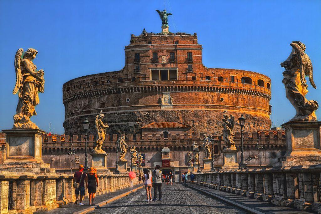 Castel Sant'Angelo, vista frontale - Roma