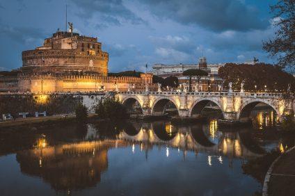 Castel Sant'Angelo, vista notturna - Roma
