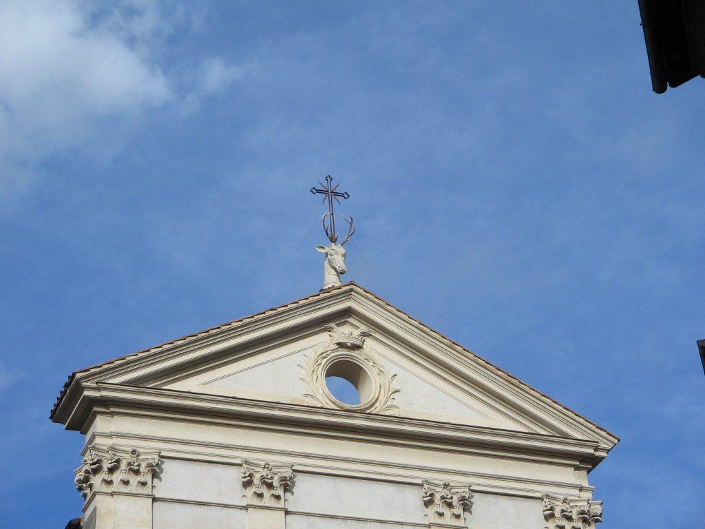 Chiesa Sant'Eustachio, simbolo del cervo